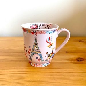 World Market pink Paris France tea cup mug handle